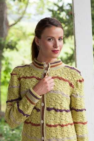 Crochet Shell Cardigan