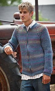 Brioche Stitch Cardigan pattern, an example of brioche knitting.