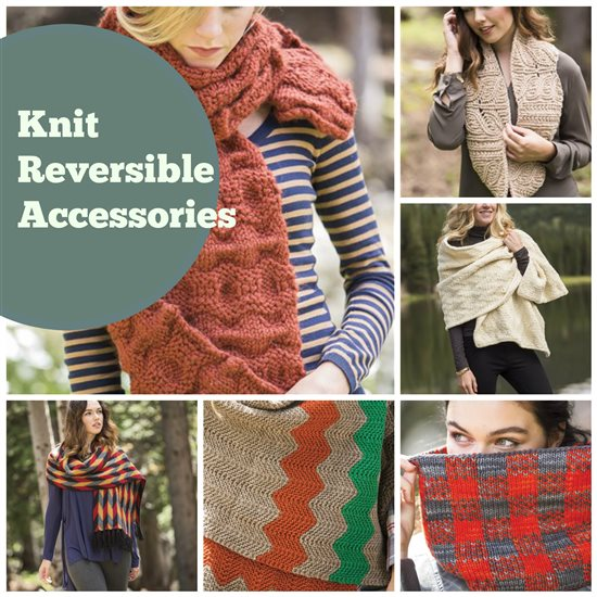 reversible knitted scarves