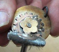 Use the polishing wheels to shine everything up.
