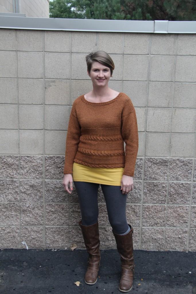Debbie in the Sedona Sweater