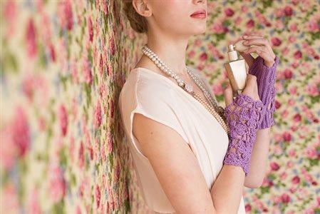 Lavender Wristers pearl