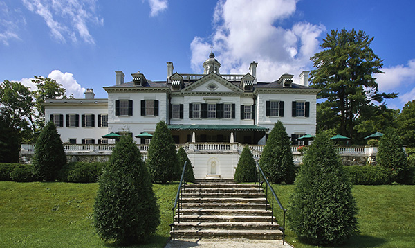 "The Mount, the house in Lenox, Massachusetts, designed by Edith Wharton. She wrote, ""There for ten years I lived and gardened and wrote contentedly."" The estate is now a National Historic Landmark. Photo by Mahaux Charles/AGF/UIG via Getty Images."