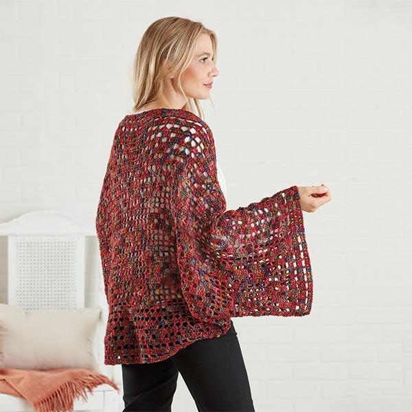 Filet Crochet Kimono