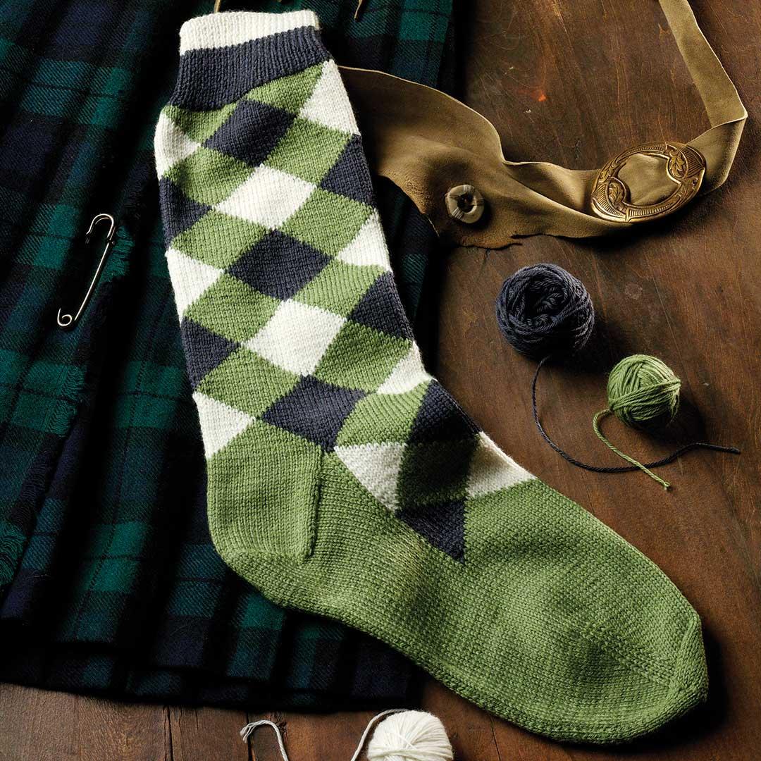 intarsia socks