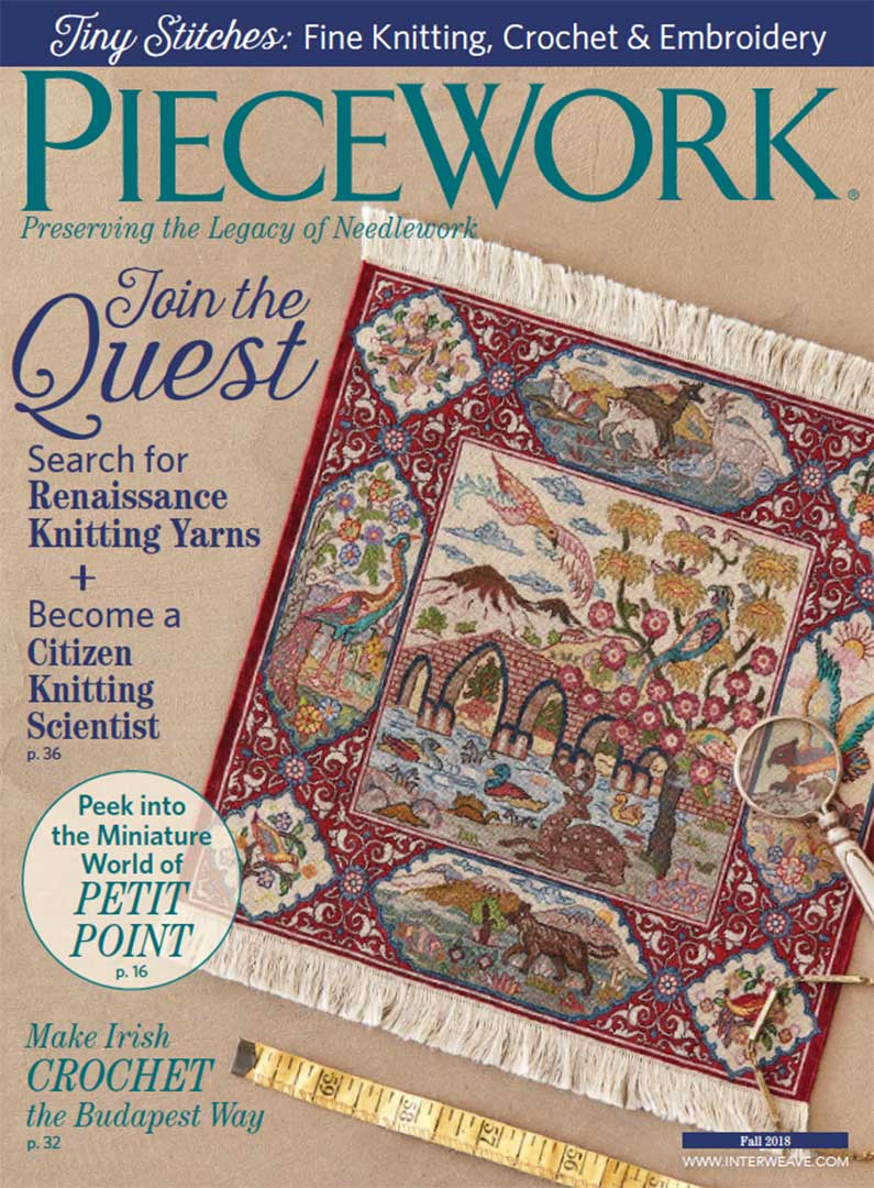 PieceWork Fall 2018. Cover photo by George Boe.