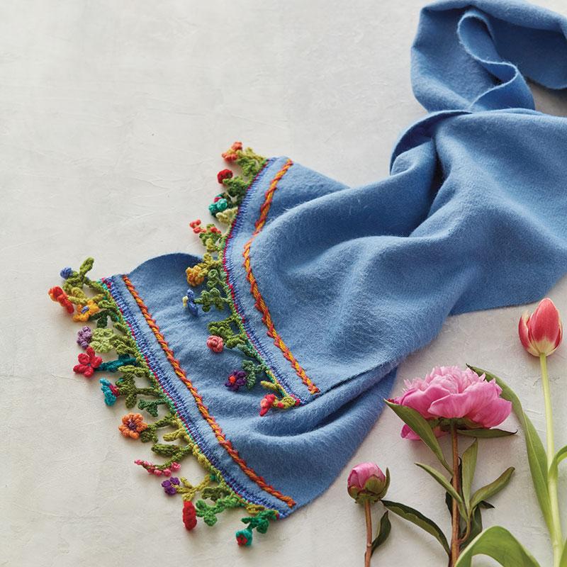 Barbara Morrison's stellar scarf