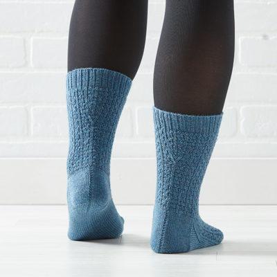 Railway-Stitch Socks