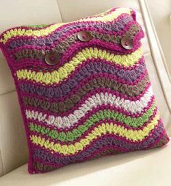 Crochet Chevron Pillow