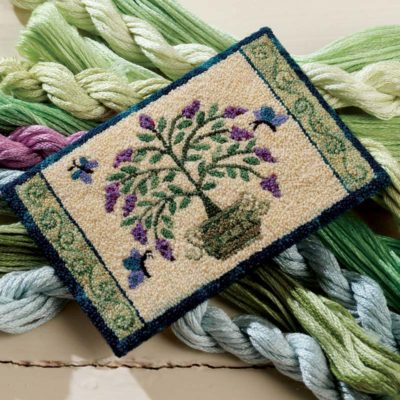 Nature-Inspired Stitchwork: Miniature Garden Rug