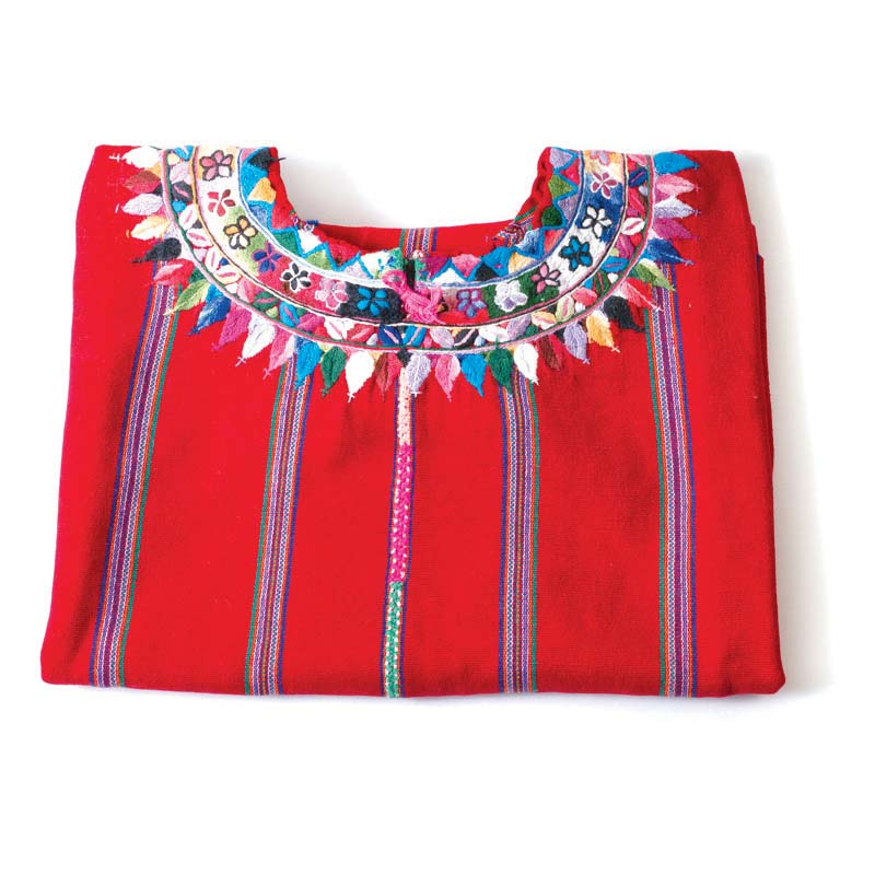 Huipiles: Everyday Guatemalan huipil (square-cut women's blouse). Purchased twenty-five to thirty years ago in Guatemala. Collection of Cynthia Lecount Samaké.