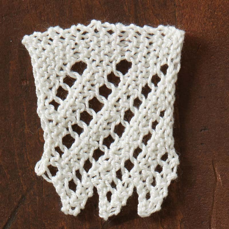 "knitted-lace: Frances H. Rautenbach re-creation of Mary Elizabeth Greenwall Edie's ""Lace"" knitted-lace sample. Photos by Joe Coca"