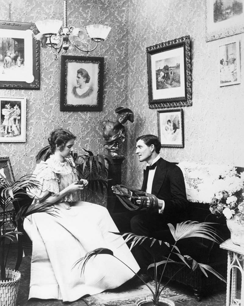 A Victorian couple. Circa 1890. Photo by Bettmann. Archive/Getty Images.