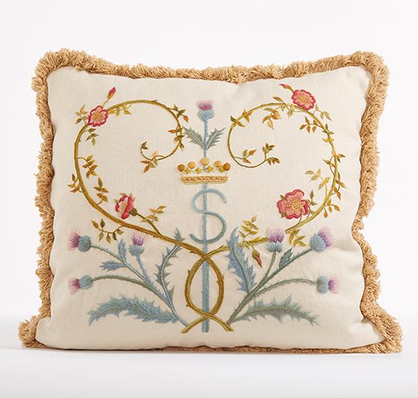 Phillipa's crewelwork pillow
