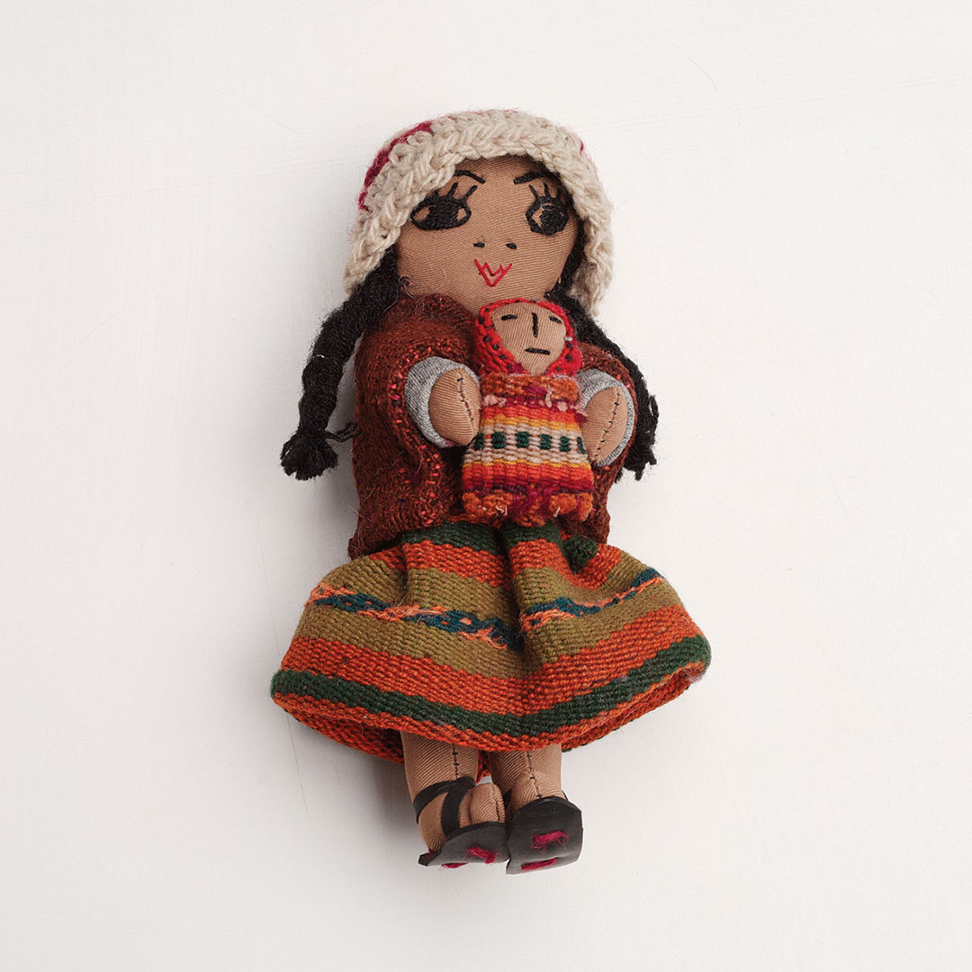 embroidered dolls