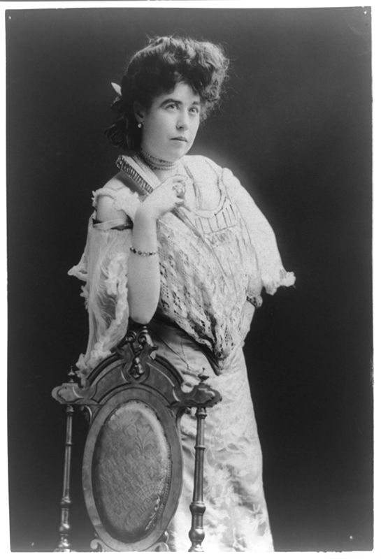 "Photo of ""Molly"" Brown. George Grantham Bain Collection, Library of Congress Prints and Photographs Division, Washington, D.C. Photo courtesy of the Library of Congress."