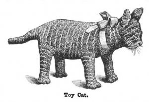 Original illustration of Toy Cat from Weldon's Practical Needlework, Volume 9.