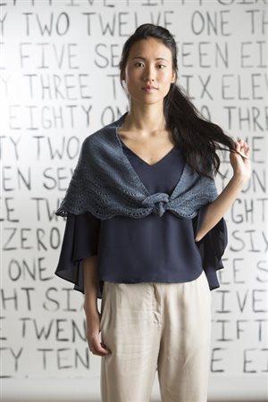 Katya Frankel Stepping-Stones Shawl knit.purl Spring/Summer 2015