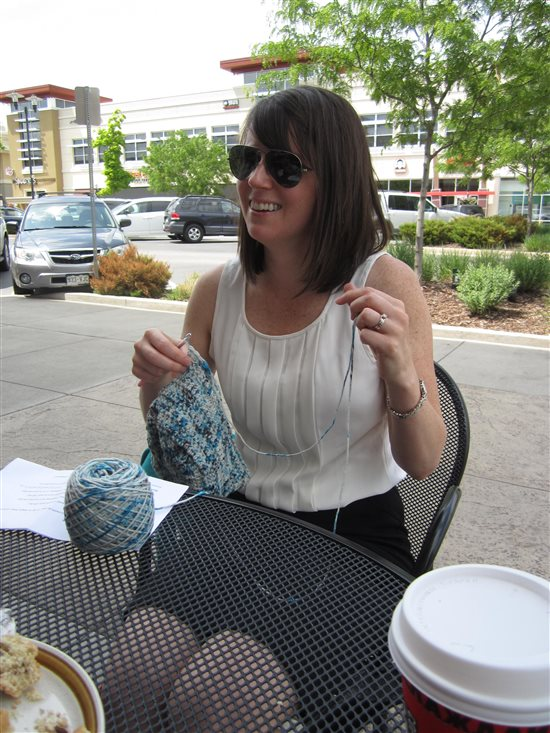 Crocheting in public