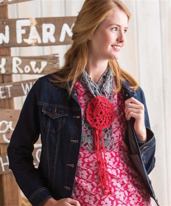 3 Skeins or Less: Motif Crochet Scarf