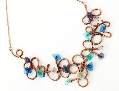 make Eva Sherman's wire freeform organic necklace