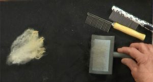 Pet combs and brushes make a great substitute for handcombs.