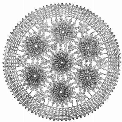 Crochet couvrette