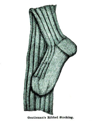 Gentleman's Ribbed Stocking
