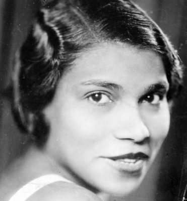 Portrait of African-American singer Marian Anderson