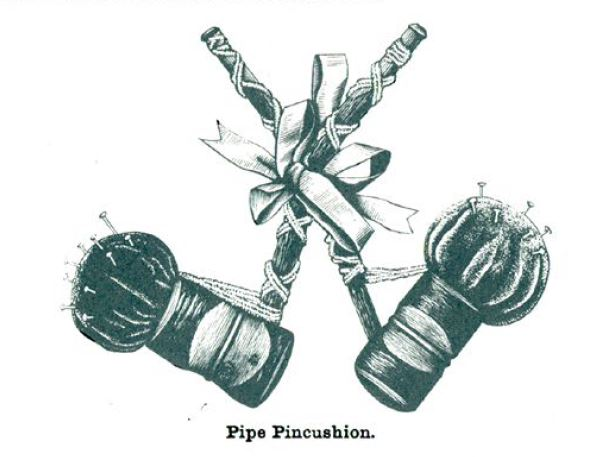 Pincushions: pipe pincushion