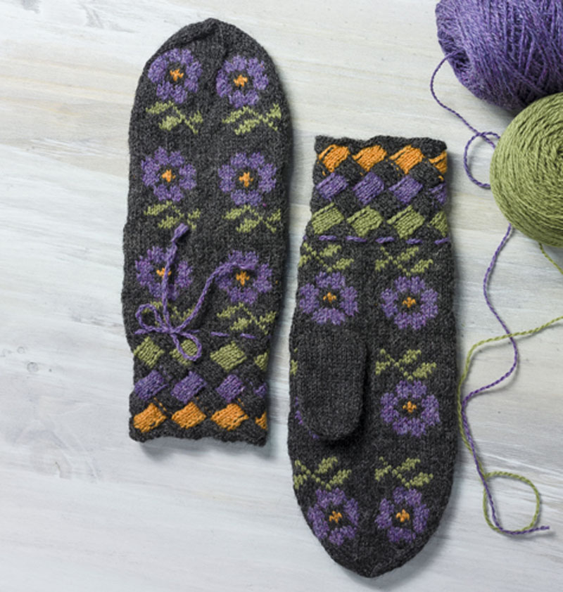Worked in soft and warm Peruvian Highland wool yarn, they will keep one toasty and provide a reminder that spring is coming.