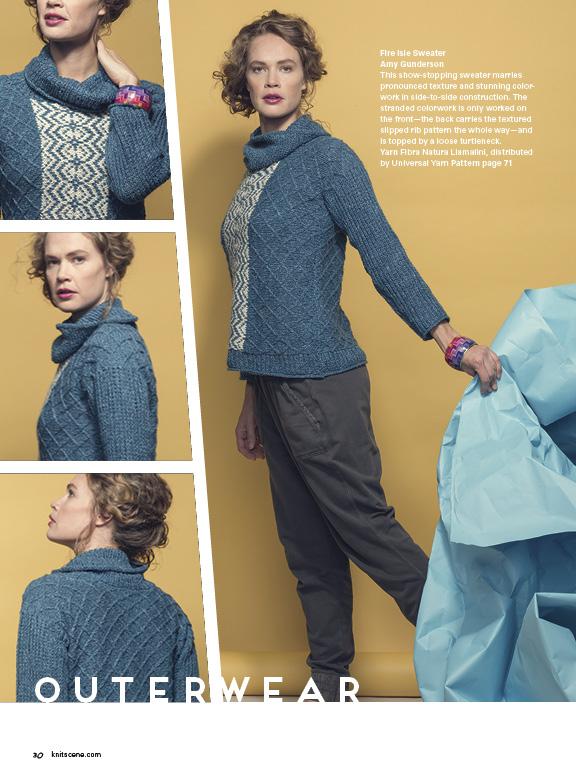 Knitscene Winter 2015 Fair Isle Pullover Knitting Pattern