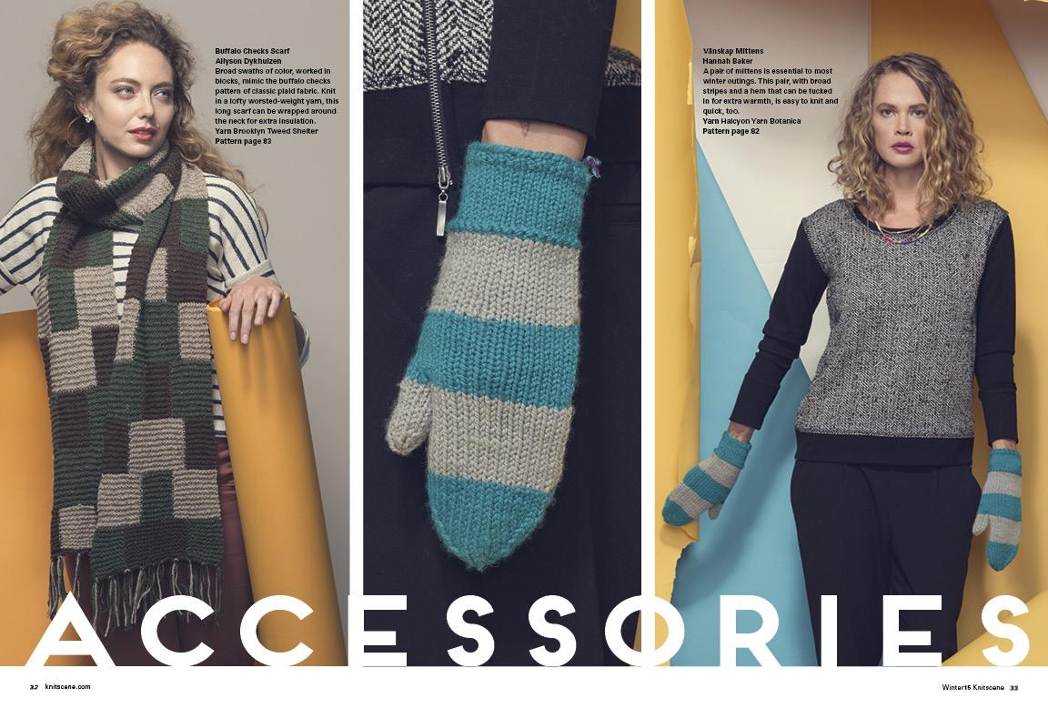 Knitscene Winter 2015 Scarf Knitting Pattern Mittens Knitting Pattern