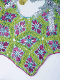 You'll love this granny tree skirt pattern found in this FREE eBook on crochet holidays.