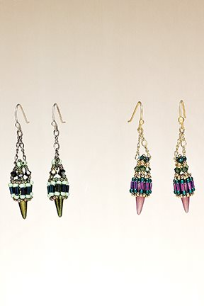 Spiky Dangles Earrings