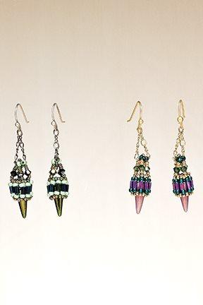 Spiky Dangles Earrings