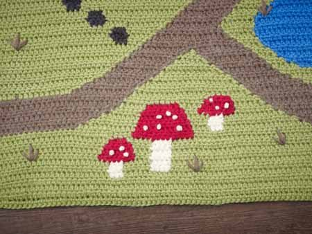 Reversible Crochet Intarsia Play mat