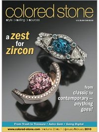 Colored Stone magazine January/February 2010