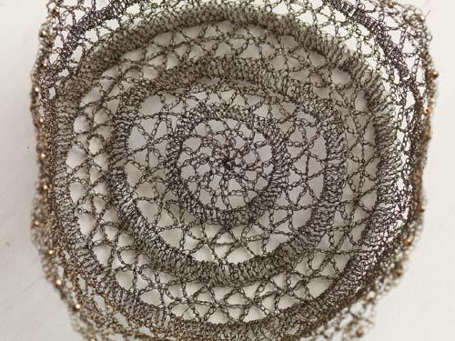 Crochet Lace Wire Basket