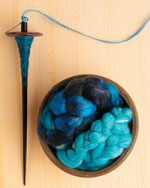 Lovely top-worl spindle and fiber