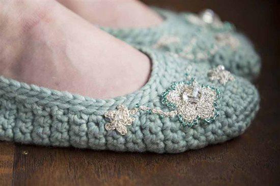 Crochet Ever After: Embellished Crochet Slippers