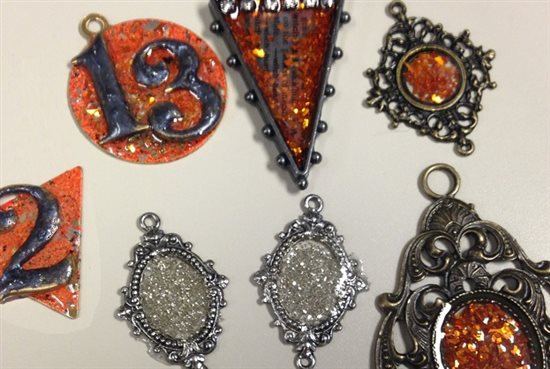 Halloween jewelry resin glitter Iced enamels