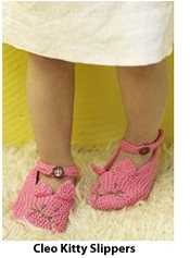 Cleo Kitty Slippers, free knitting pattern!