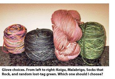 Glove yarn choices