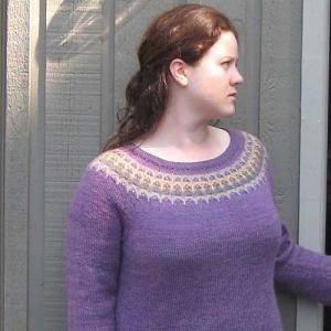 Seamless Yoke Colorwork in the Freyja Sweater