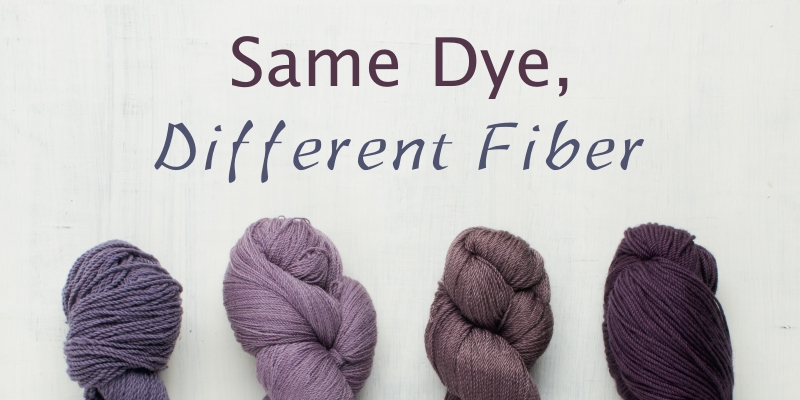 Case Study: Same Dye, Different Fiber