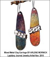 Mixed Metal Clay Earrings - Arlene Mornick