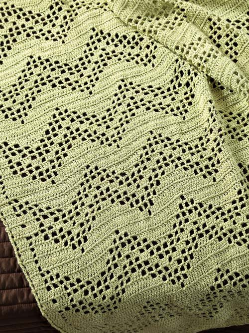 Filet Crochet Afghan