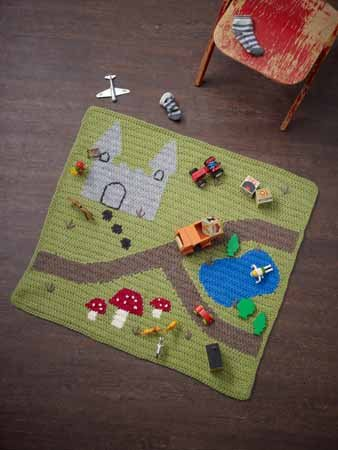 Reversible Intarsia Crochet Play mat