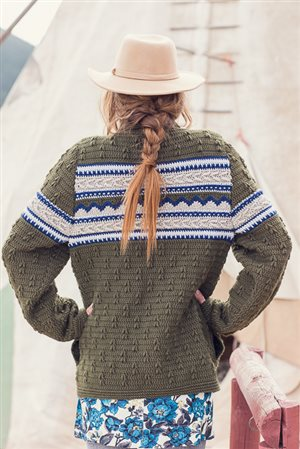 Mountain Forest Cardigan Back